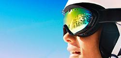 lunettes de ski filtrant les UV