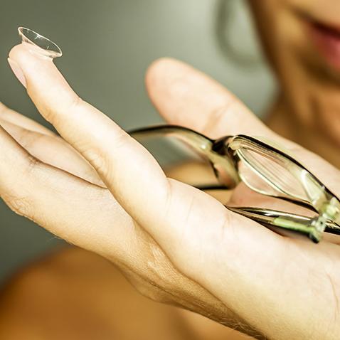 Lunettes de vue, Lunettes optiques et lentilles de contact
