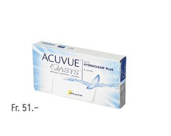 Boite de lentilles de contact Acuevue Oasys HydroclearPlus à 30 pièces
